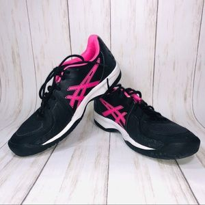 ASICS Gel-court Speed Tennis Shoes Black & Pink 9